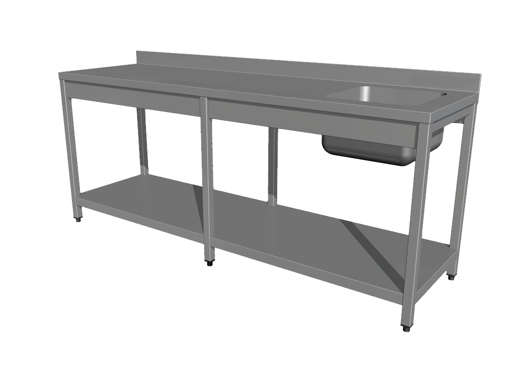 Work tables with sink