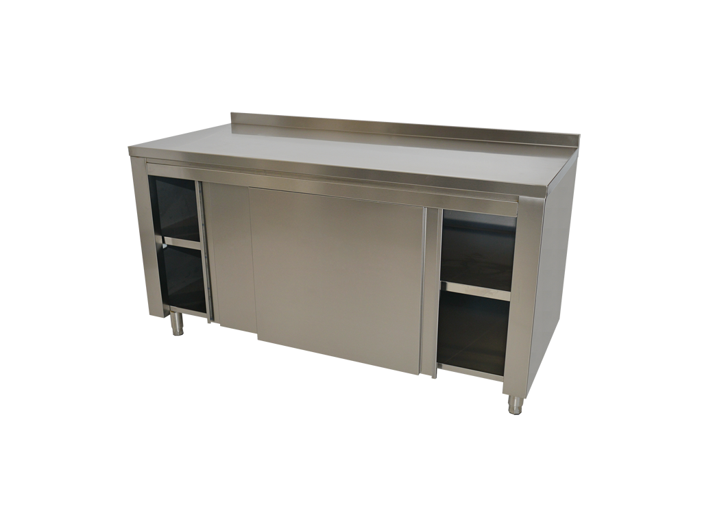 Neutral work tables with cupboard