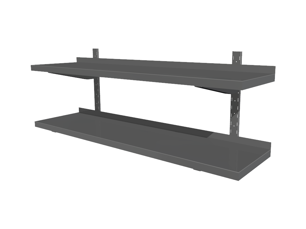 Wall shelves with adjustable shelves